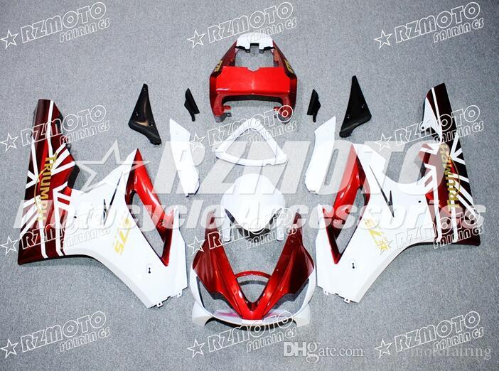 승리 데이토나 675R 675 2006 2007 2008 06 07 08 화이트 레드 새로운 ABS 사출 금형 오토바이 바람막이를 키트 맞춤