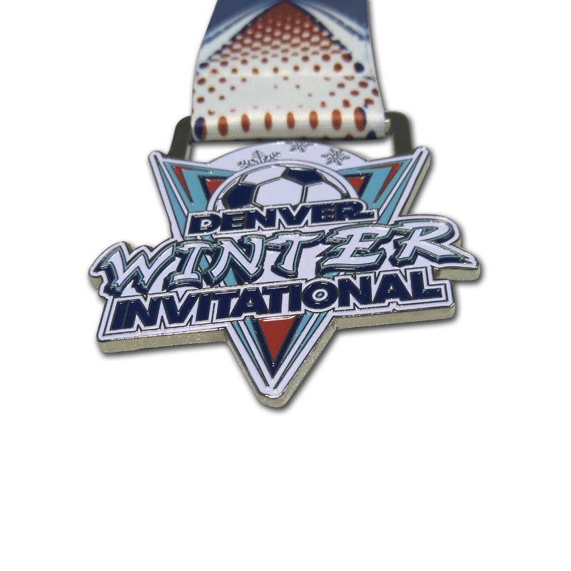 2D Футбол Спорт Пользовательские Креативных премий металл Медаль с сублимационной лентой