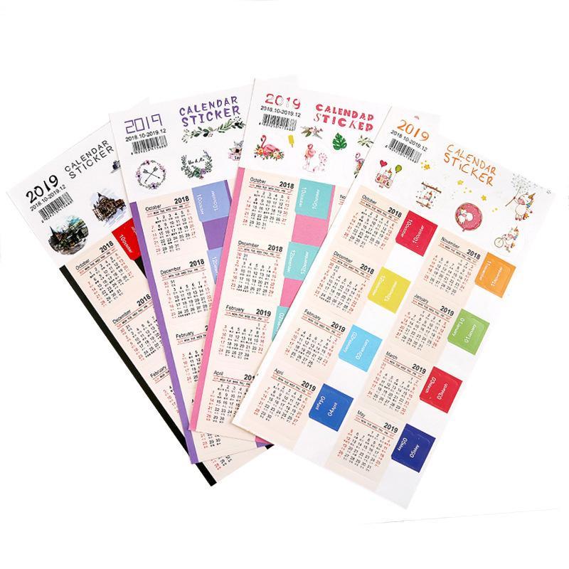 2 -part /sentence Handwriting Calendar sticker Notebook Index Label sticker Schedule planner