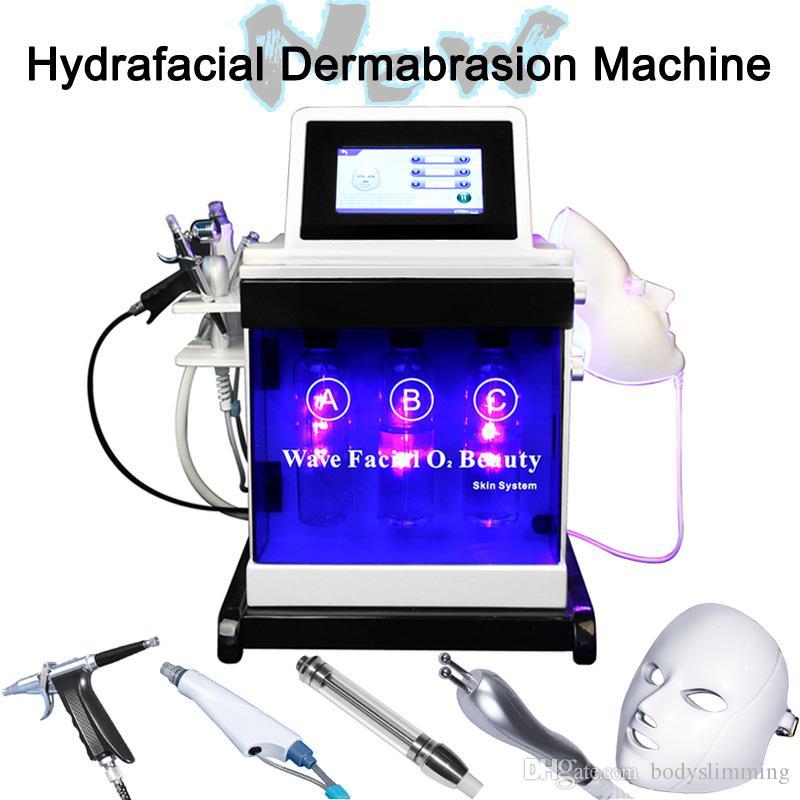 microdermoabrasión casa uso dermoabrasión la piel tratamiento facial RF máquina equipo de cuidado de la piel de apriete cáscara de agua Hydra máquina Hydrofacial