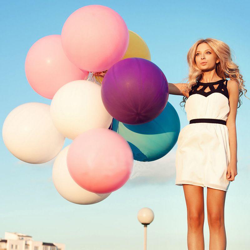 Épaissir 36 pouces Coloré Grand Ballons En Latex Hélium Inflable Exploser Ballon Géant De Mariage Anniversaire Fête Grand Ballon Décoration