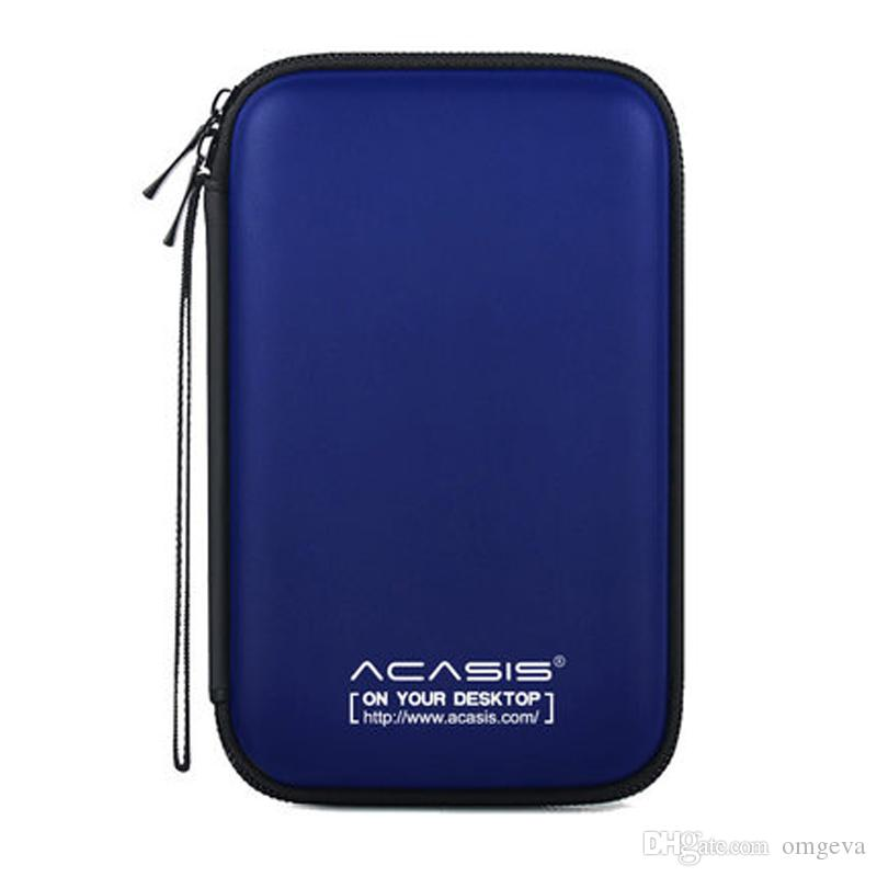 Acasis 2.5 인치 휴대용 외장 하드 드라이브 보호 가방 EVA 방수 듀얼 버퍼 레이어 HDD 보호 케이스