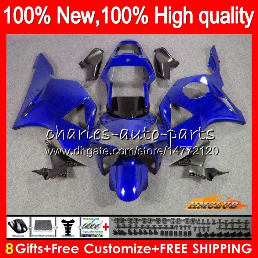 Комплект кузова для HONDA CBR900RR CBR954RR CBR 900cc 954 900 CC RR 77NO.124 CBR 900RR 954RR CBR900 синий глянцевый CBR954 RR 2002 2003 02 03 обтекателя