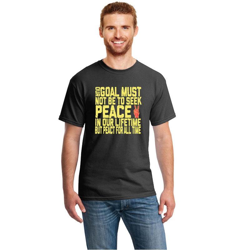 Paix T-shirt vintage manches courtes T-shirt homme ras du cou d'été T-shirts pour hommes et femmes Hiphop