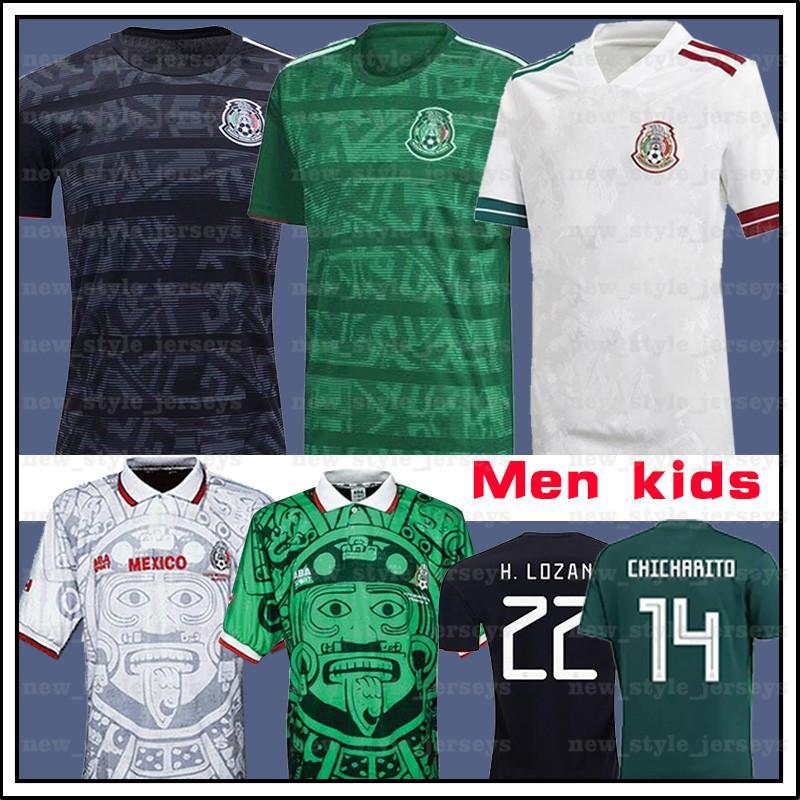Mexique Jerseys Soccerys G. Dos Santos R. Marquez C. Vela H. Herrera A. Guardado H. Lozano Hommes Enfants Maillot de pied