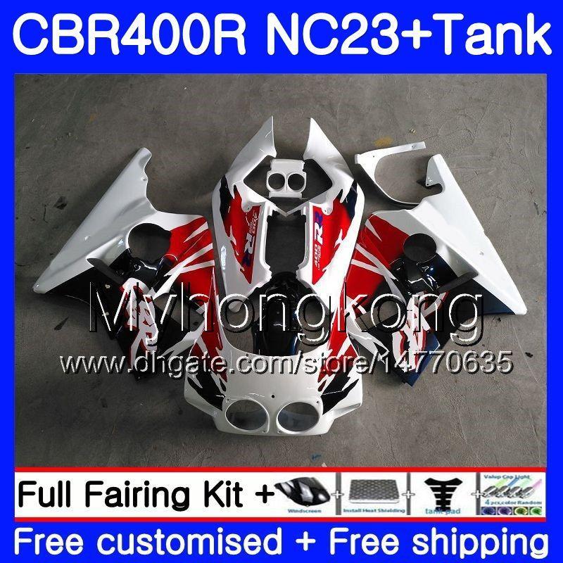 + Tank voor HONDA CBR400 RR NC23 CBR400RR 88 89 90 91 92 93 266HM.0 NC29 CBR 400 RR 400RR 1988 1989 1990 1991 1992 1993 FACKSE Factory Blue