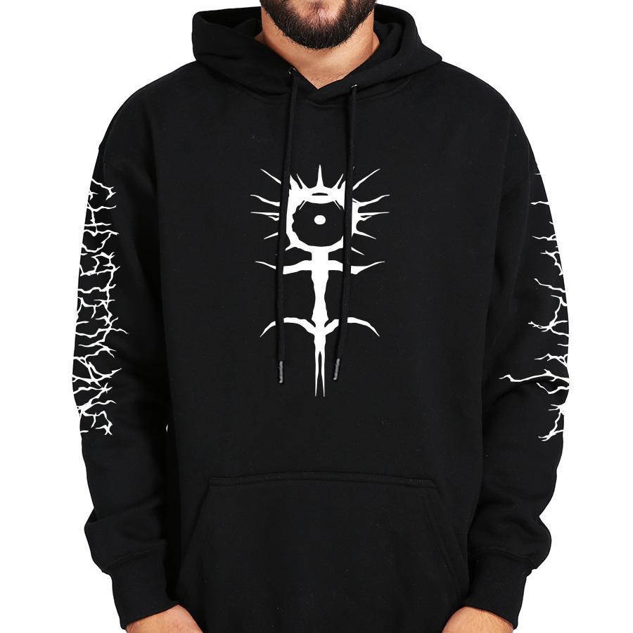Ghostemane Hoodies Mercury Retrograde Image imprimée Sweat-shirt noir à manches longues en velours doux et chaud à capuchon T200102