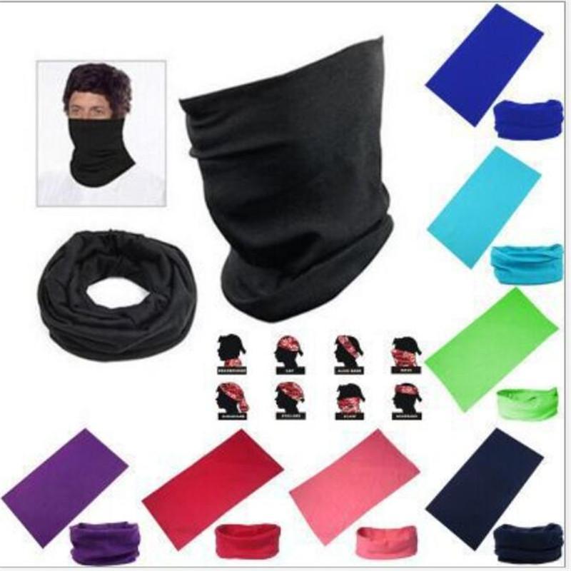 Staubschutzmasken Fest Farbe Nahtlose Bandana Polyester Magie Anti-UV Outdoor-Fischen Reiten Tarnung Radfahren Schals