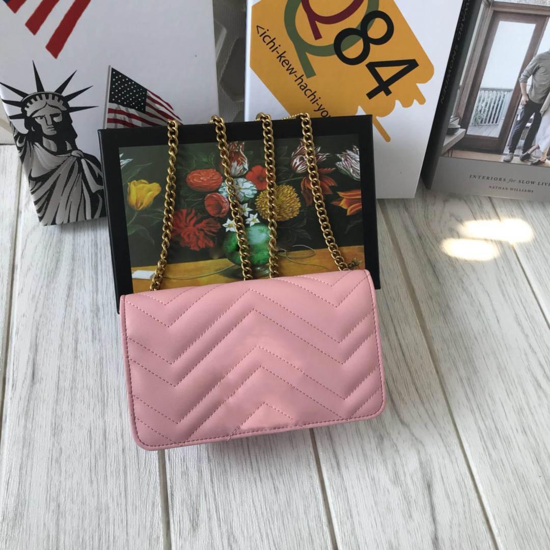 Frauen-Entwerfer-Schulter-Beutel-Liebes-Herz-Beutel-Miniketten-Klappen-Crossbody-Handtaschen-Qualitäts-echtes Leder gesteppte Handtasche Freeshipping 18cm