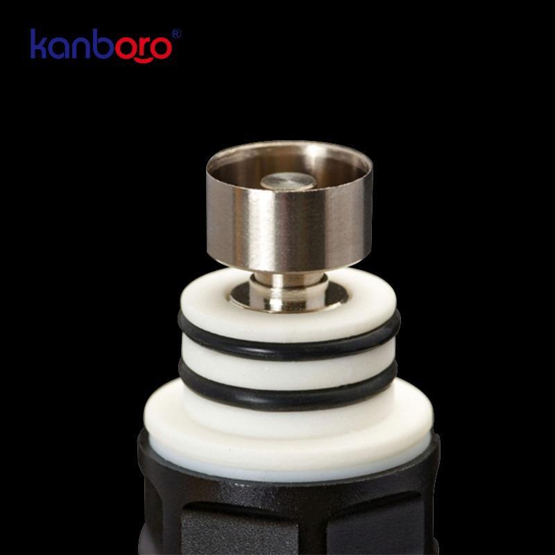 Kanboro eCube kit papa Temp contrôle Enail Kit avec verre de quartz écran LED céramique et titane Nail pipe à eau Dab Rig Wax Nail