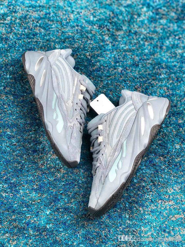 2019 Novo 700 do corredor da onda Homens Mulheres Designer hospitalares sapatilhas azuis 700 V2 ímã Tephra melhor qualidade Kanye West sapatos de desporto