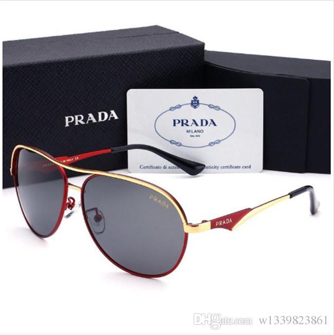 Designer de Óculos De Sol De Luxo Óculos De Sol De Designer De Vidro para Homens Óculos Adumbral UV400 com Caixa de Alta Qualidade Da Marca P 4 Cores 2019 Novo