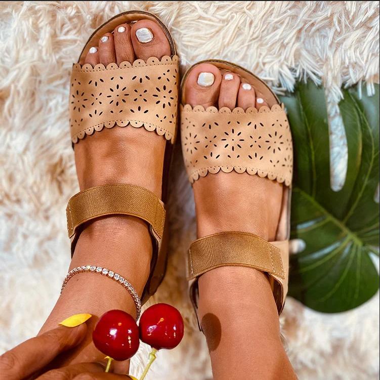 Zapatos de verano dropshipping Las mujeres sandalias 3 color de los cordones sandalias de la señora punta abierta Zapatos Casual cuña de la plataforma Diapositivas Beach 2020
