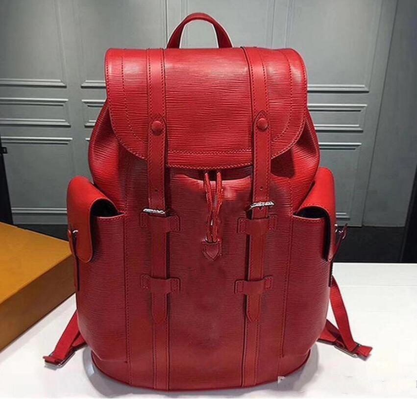 Der Fabrik Luxusfrauenhandtaschen der heißen Verkaufs Rucksäcke Designer 2018 Art und Weise Frauen Dame schwarz rot Rucksacktasche Charme