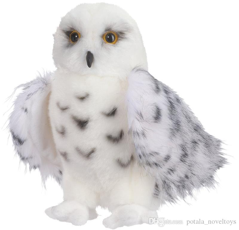 30CM Standing Cute Plush Snowy Owl Crystal Eyes 11inch Stuffed Animals Toy White 11'' Kids Gifts Beautiful NICE Adorable Smart interactive