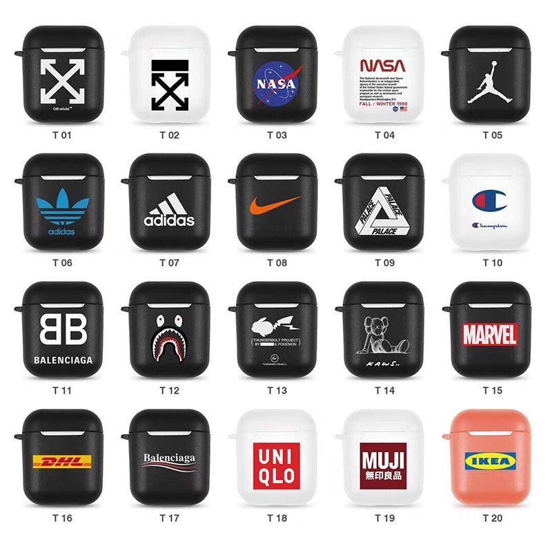 Designer airpods case tpu capa protetora de luxo estilo moda airpods casos designer de presente do fone de ouvido para airpods 20 estilos