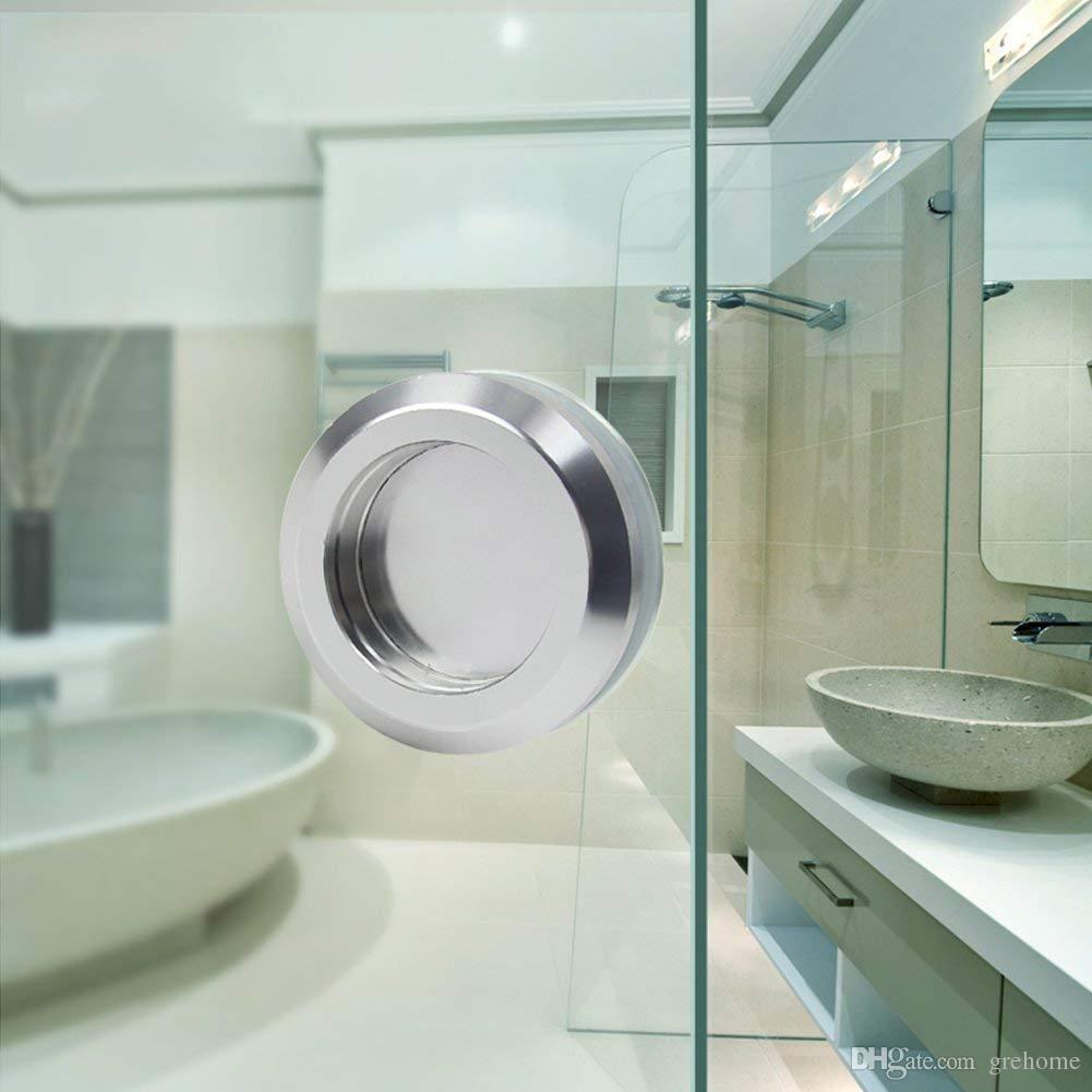 유리 도어 304 스테인레스 스틸 둥근 중공 욕실 노브를 쉽게 설치 슬라이딩 도어 핸들, 헛간 문 하드웨어