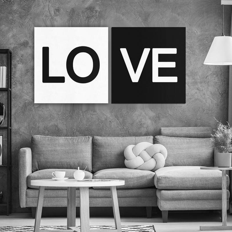 2019 Love Canvas Wall Art Black And White Canvas Painting Art Home Decor  Bedroom Wall Poster From World_view, $9.08   DHgate.Com