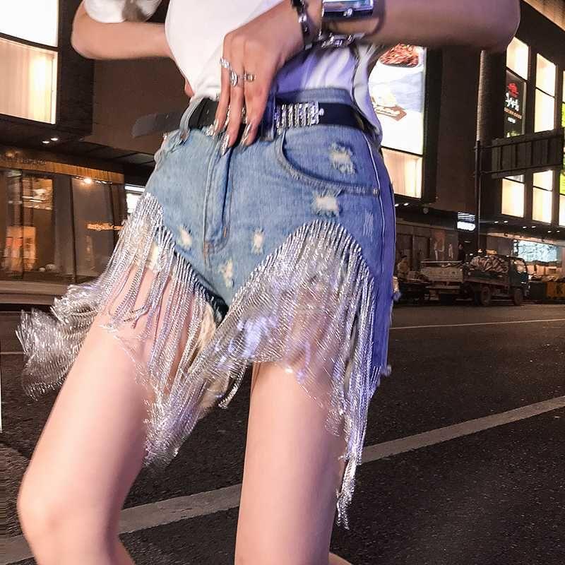 XUXI 2020 Nouveau Femmes d'été Cowboy Short taille haute Streetwear Petit ami Ripped Ladies moulantes Skinny Jeans Femme FZ0476