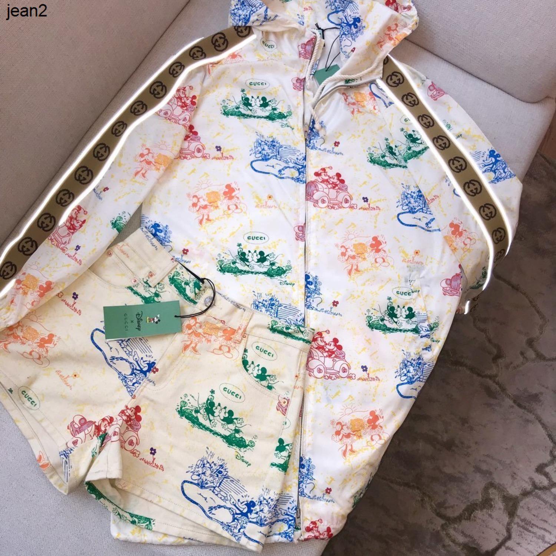 Mode Frauen drucken Vintage Outwear Notwendig Sonnenschutz Stil im Frühjahr und Sommer, mit Kapuze + Leuchtstreifen Dekoration Mantel 040504