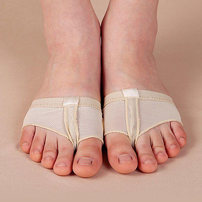1 пара танец живота балет ног площадку практика обувь для ног стринги уход инструмент половинной подошвы Носков обувь для танцев гимнастика практика