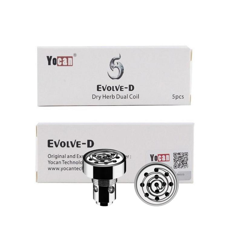 Kalite Yocan Evolve-D Bobinler Gözleme Bobinleri Balmumu Kuru Ot Çubuk Evolve D Vape Kalem Buharlaştırıcı Için Yedek Kafa