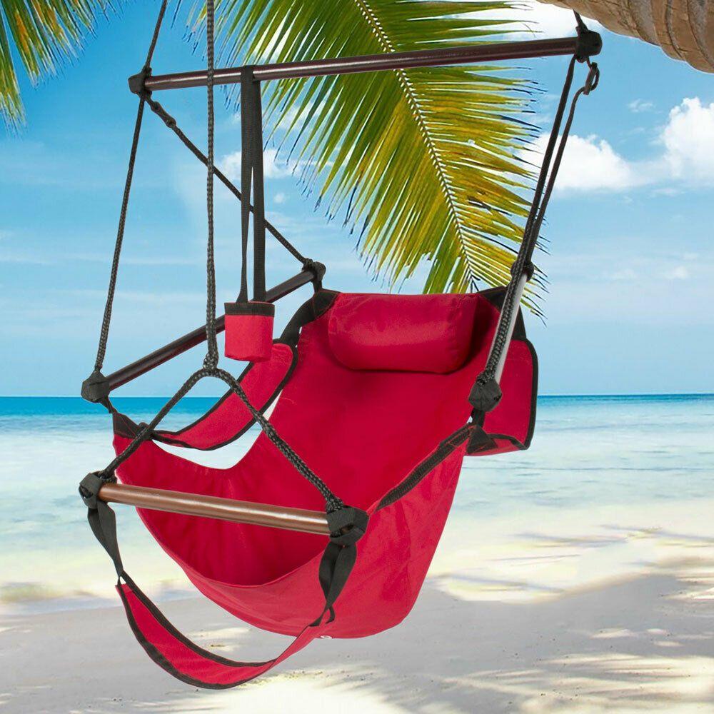 Hamac suspendu Chaise Air Deluxe Chaise d'extérieur en bois massif 250lb