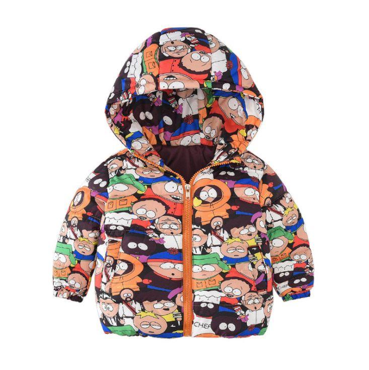 Kids Hooded Jackets Boys Girls Coats Cartoon Dinosaur Printed Outerwear Toddler Spring Autumn Zipper Outfits