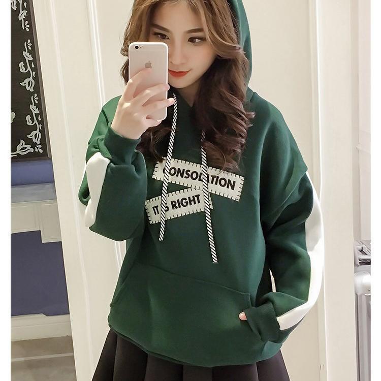 Moda inverno Streetwear all'ingrosso Donne con cappuccio caldo Donne Donne Jumper Felpa 2 colori B100771Z