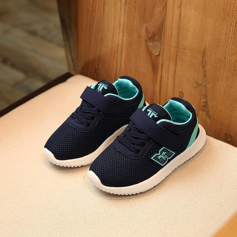 New Fashion Baby Casual Chaussures de sport Chaussures de sport Chaussures de course marche en plein air anti-dérapant causales Chaussures Semelles souples Prewalker S # 5