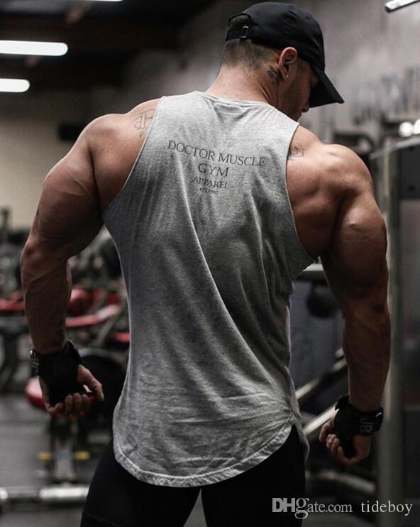 Gilet sportivo sleeveless estivo Gilet sportivo tendenza maschile da uomo in esecuzione tuta allenamento fitness Abbigliamento palestra