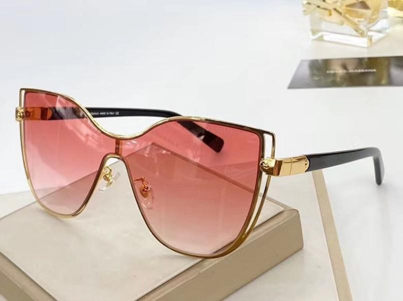 Top 2236 diseñador de las mujeres Gafas de sol del metal del marco del ojo de gato Cuentas de flash gafas de diseño Gafas de protección UV400 con el caso de la Calidad