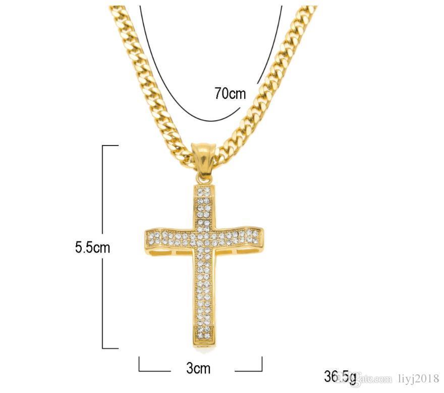 Meilleure vente de diamants complets de micro-incrustés de diamants en acier inoxydable pendentif amende hip hop bijoux