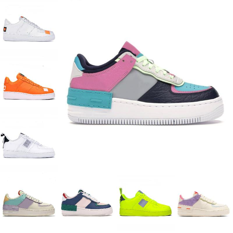 2020 الجديدة PEACEMINUSONE X منتصف الاحذية WMNS رخيصة الظل الاستوائية تويست رياضة مدرب جميع الأبيض أورانج قطع أدنى واحد 1 أحذية دونك