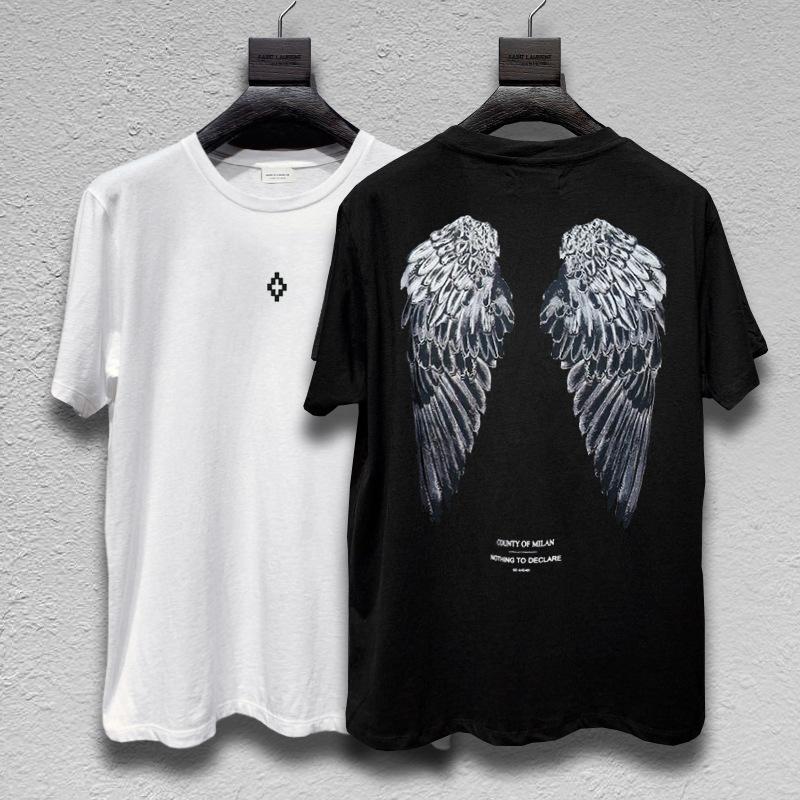 ABD Moda Tişört Yeni Moda trendi Tasarım Kanat gündelik dijital baskı kısa kollu Erkek / Kadın 'S Yaz Casual tişört 2 Renk yazdırmak