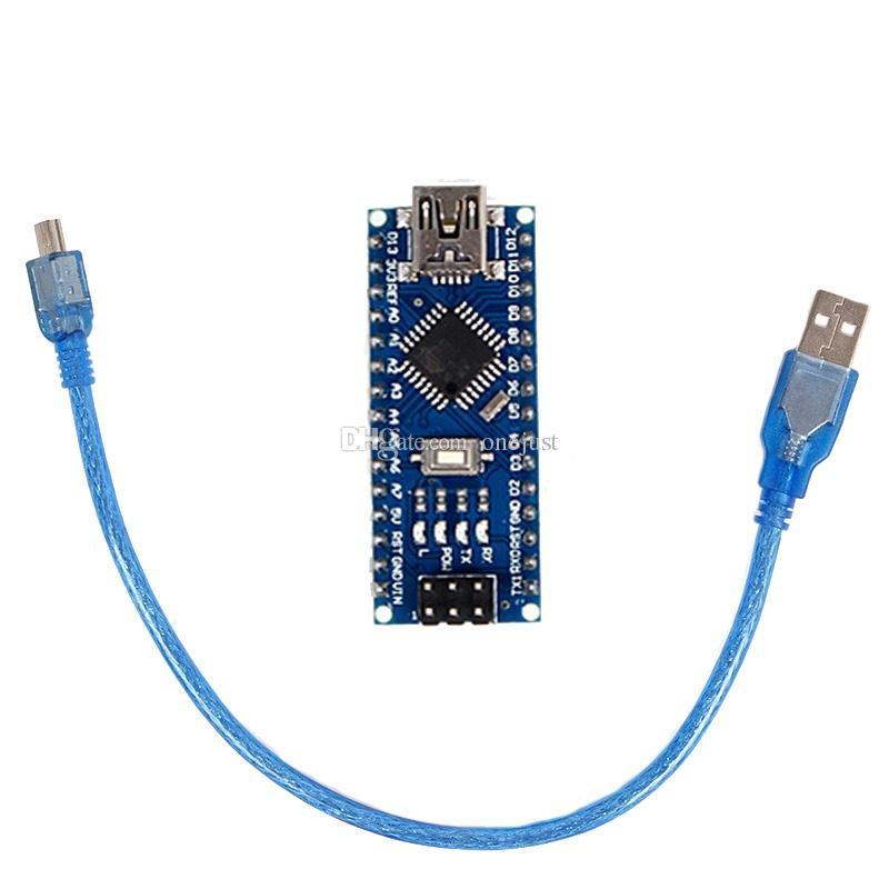 وحدة تحكم لوحة وحدة CH340 USB لاردوينو نانو V3.0 ATMEGA328P + كابل USB B00582