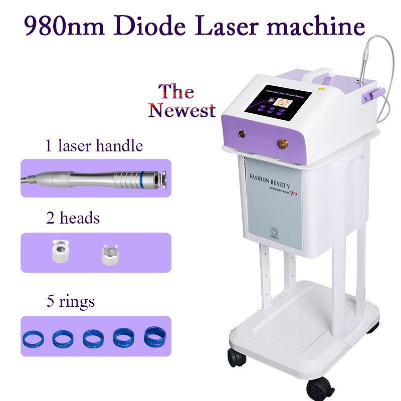 vascular 980nm Laser Vascular aranha Máquina de remoção da veia removedor de garantia de melhores aranha tratamento de veias 2 anos