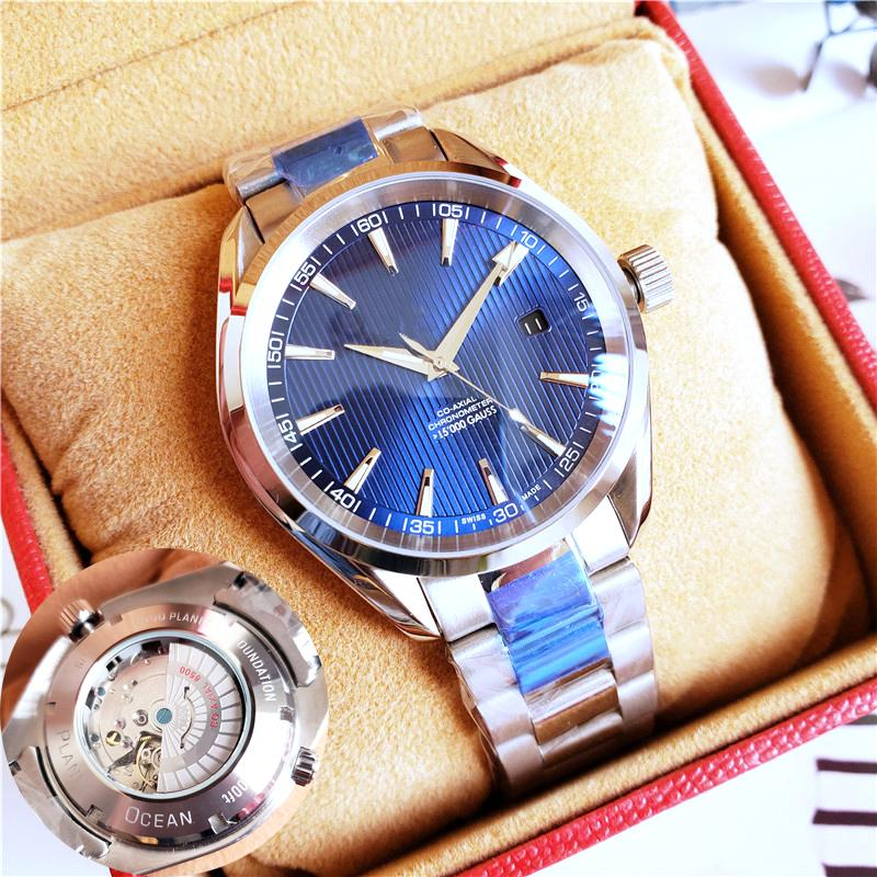 Luxury Men Watches Brand Aqua Terra High Quality Watch 8500 Automatic Watch Sapphire Original Clasp Transparent Back Master Watches