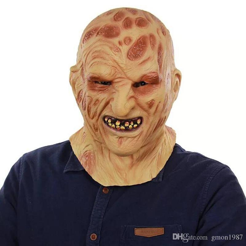 Freddy Krueger Maske Realistische Erwachsene Scary Halloween Kostüm Kostüm Party Cosplay Requisiten