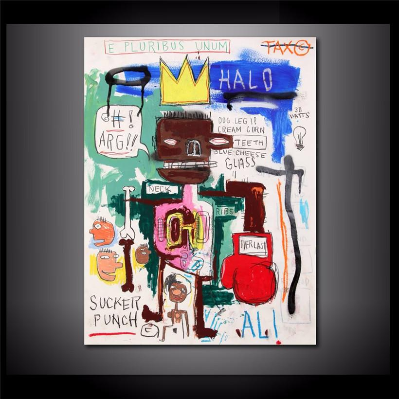 Jean Michel Basquiat FRAZIER FIGHT,HD Canvas Printing New Home Decoration Art Painting/(Unframed/Framed)