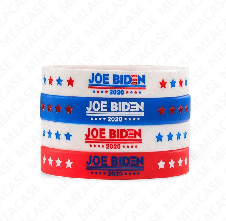 Joe Biden for President Bracelet Silicone Bangles for Women Men 2020 USA America Voting Rubber Wristband Solid Color Jewerly Gifts DHL D7211