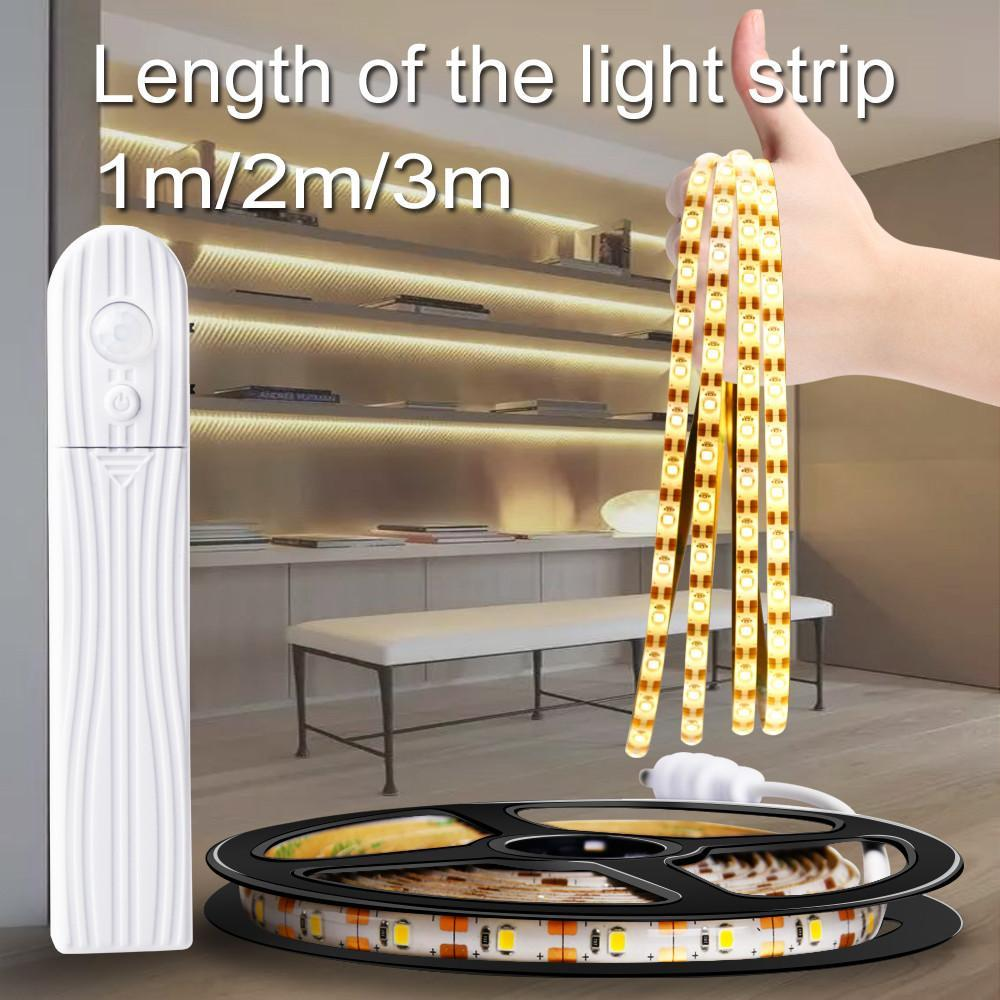 5M USB Tira levou Stripe Luz Waterproof Tape Lamp flexível Sensor de Movimento Cozinha Closet Cabinet Stair Night Light Led Lamp LED Faixa