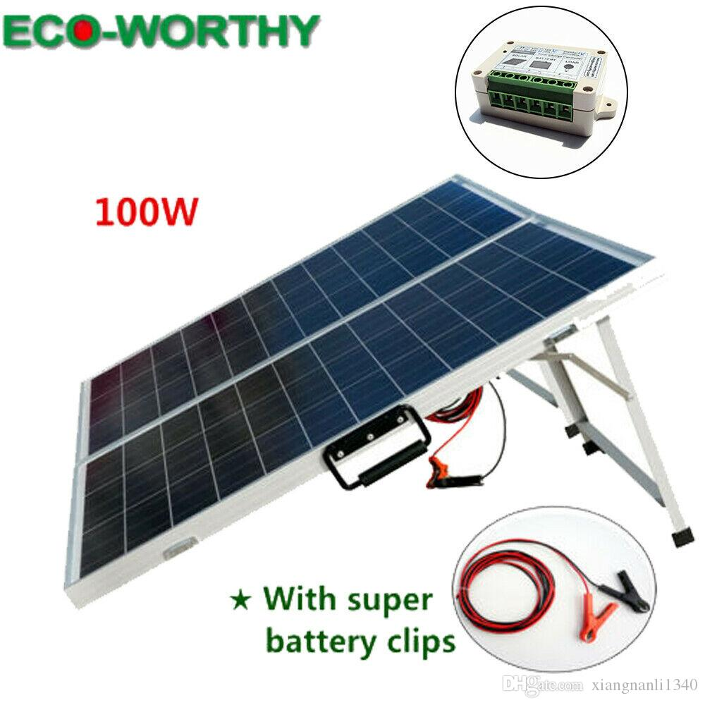 Eco 100w Suitcase Folding Solar Panel 12v Battery Charger Portable Camping Solar Cell Solar Water Heater From Xiangnanli1340 19 1 Dhgate Com