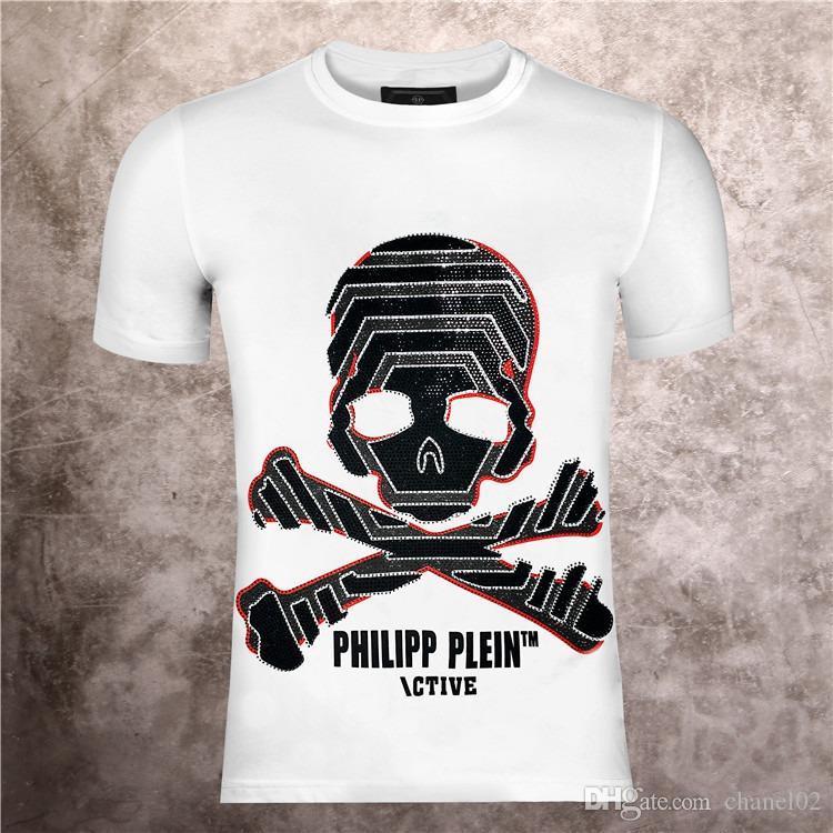 Erkekler Yaz yeni ürün T Gömlek Moda Kısa Kollu T-shirt Giyim Casual Kafatası Harf baskı Kalça yeni stil Adam tişört 5002 clothin # Hop