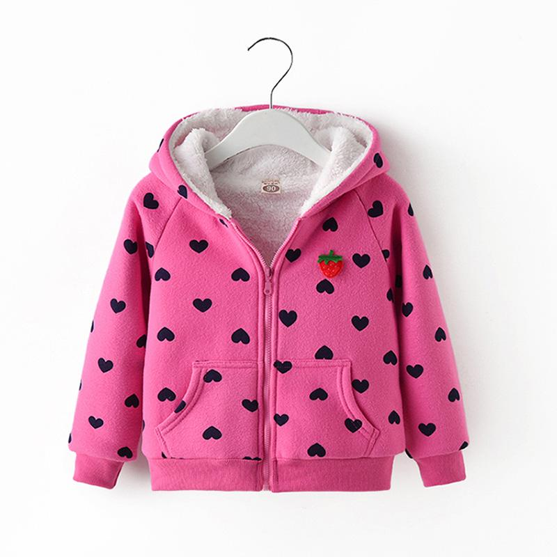 muchachas del invierno del otoño camiseta de las niñas ropa de algodón, además de terciopelo abrigo sudaderas muchachas de los niños prendas de vestir exteriores gruesa