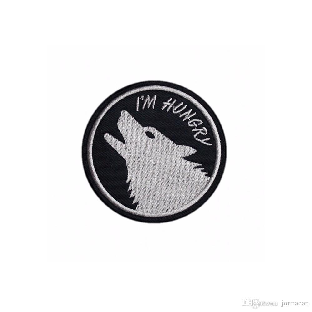 Je suis FAIM MC Rider loup broderie Iron patch pour HABILLEMENT Taille avant Livraison gratuite