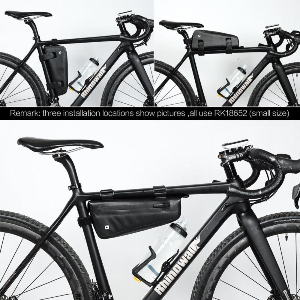 Bicycle Front Tube Bag TPU Waterproof MTB Road Bike Portable Tool Bag Black 2.8L