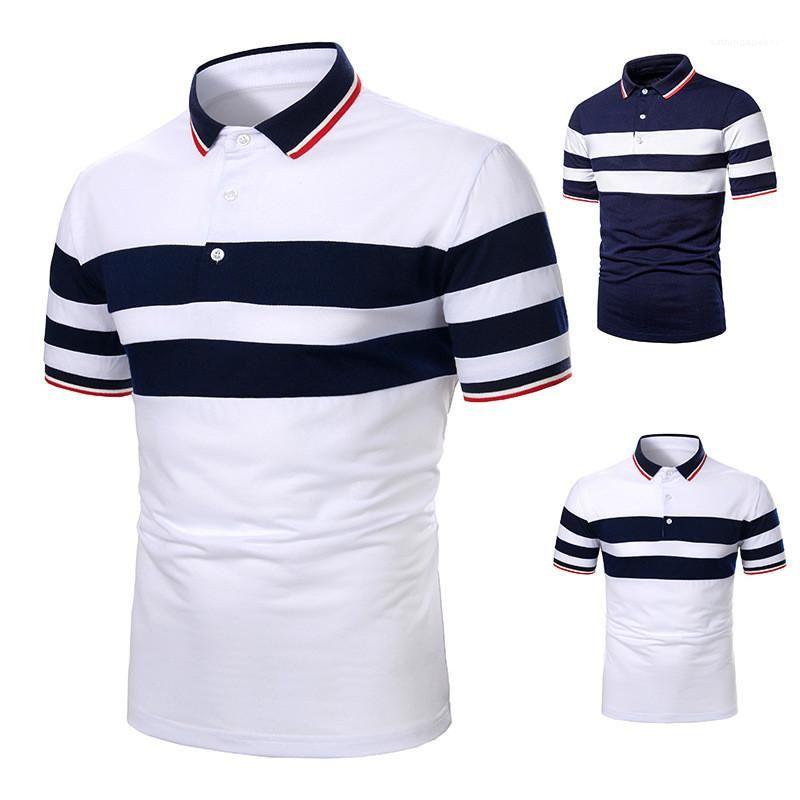 Patchwork Polos Fashion Natural Color Short Sleeve Polos Beiläufiges Revers Ausschnitt Polos Herrenmode Herren-Designer