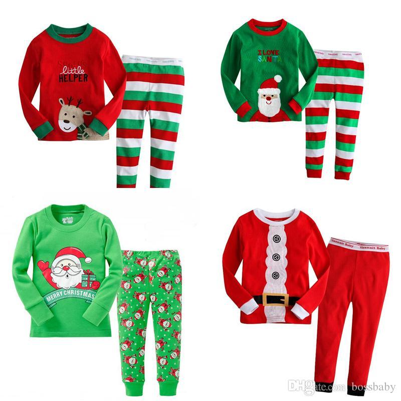 طفل عيد الميلاد تحت عنوان البيجامة 25 الألوان بنين بنات Bedgown تجميل ملابس الاطفال عارضة ملابس خريف وشتاء عيد الميلاد ثوب النوم البدلة 06