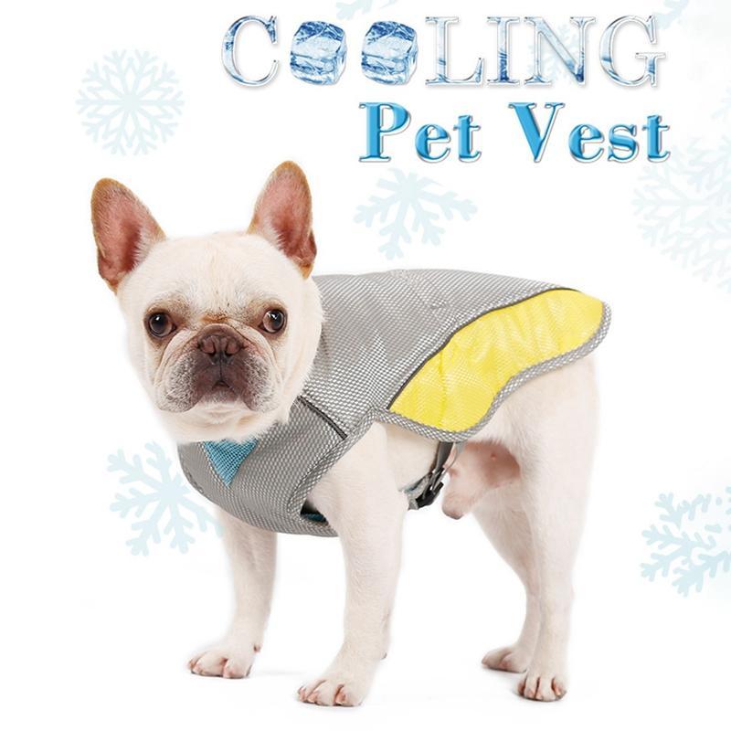 Yaz Köpek Soğutma Yelek Harness Cooler Ceket Ayarlanabilir Pet Mesh Reflektif Yelek Kuşakları Hızlı Bırakma Sıcak